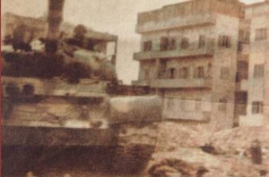 Tanks roll into Hama 30 years ago.